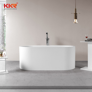 Artificial Stone Elegant Acrylic Solid Surface Bathtub Freestanding
