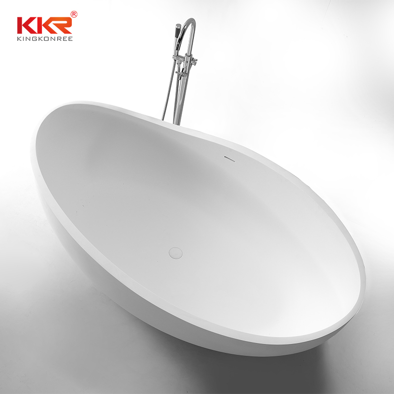 Newly Modern Freestanding White Solid Surface Shaped Bathtub