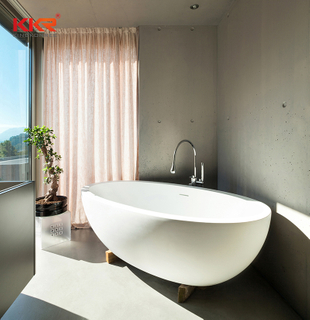 KKR Modern Stone BathTub And Solid Surface Freestanding Bathtub