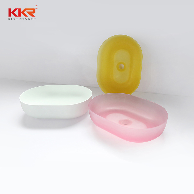 Translucent Acrylic Solid Surface Countertop Wash Basin