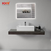 Single Bowl Bathroom Sink/ White Rectangle Solid Surface Washbasins