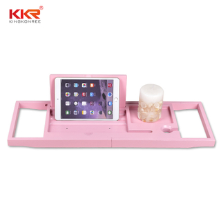 Pink Colour Bathtub Frame Retractable Bathroom Rack
