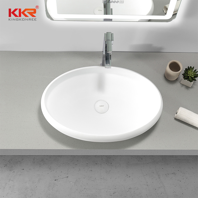 Oval Acrylic Solid Surface Countertop Basin