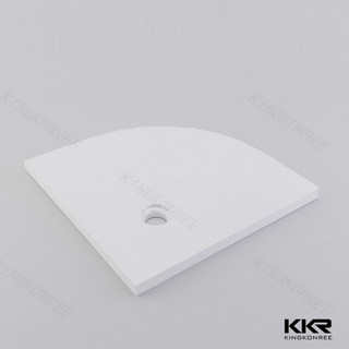 Triangle Solid Surface Shower Bases KKR-T008