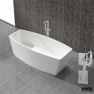 Faux stone solid surface bathtub KKR-B049