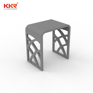 Newly Design White Marble Acrylic Solid Surface Bathroom Stone Stool KKR-Stool - M