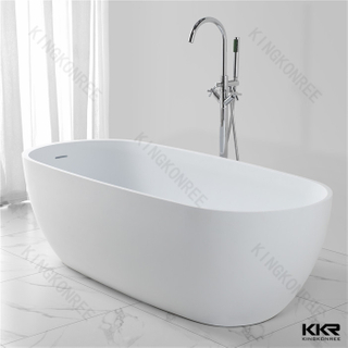 Stone acrylic solid surface bathtub KKR-B027