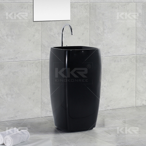 Man Made Stone Pedestal Basin KKR-1391